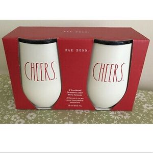 NWT Rae Dunn Cheers Insulated Tumbler Set